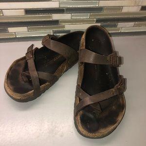 Brown Birkenstock's Leather Mayari sandals